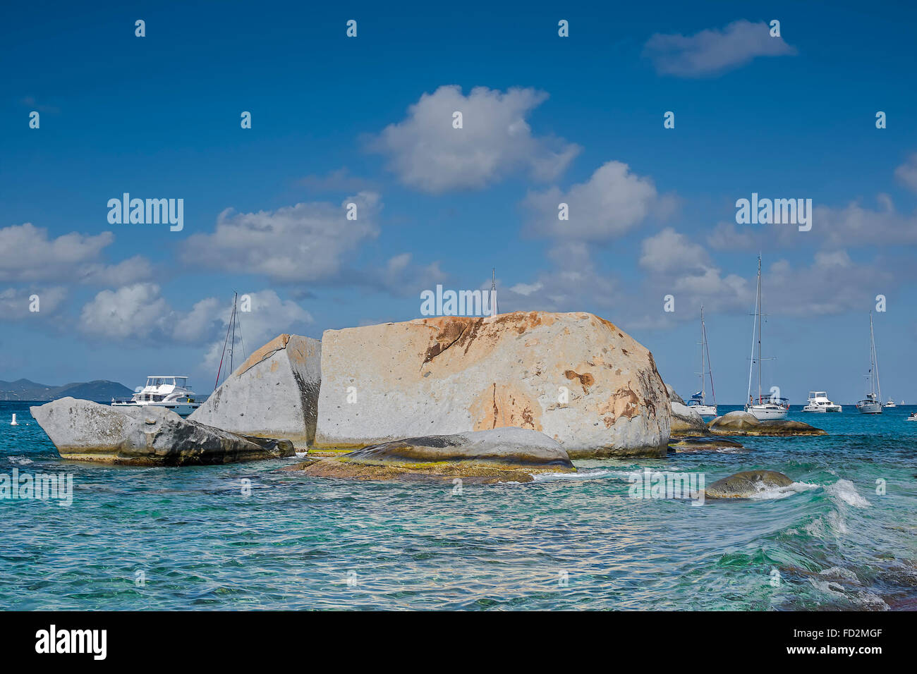 The Baths National Park Virgin Gorda British Virgin Islands West Indies - Stock Image