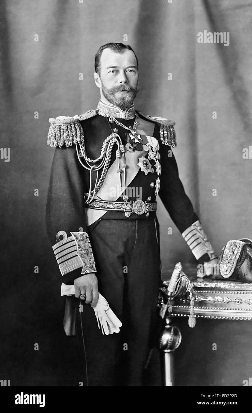 Tsar Nicholas II of Russia, portrait c.1909 - Stock Image