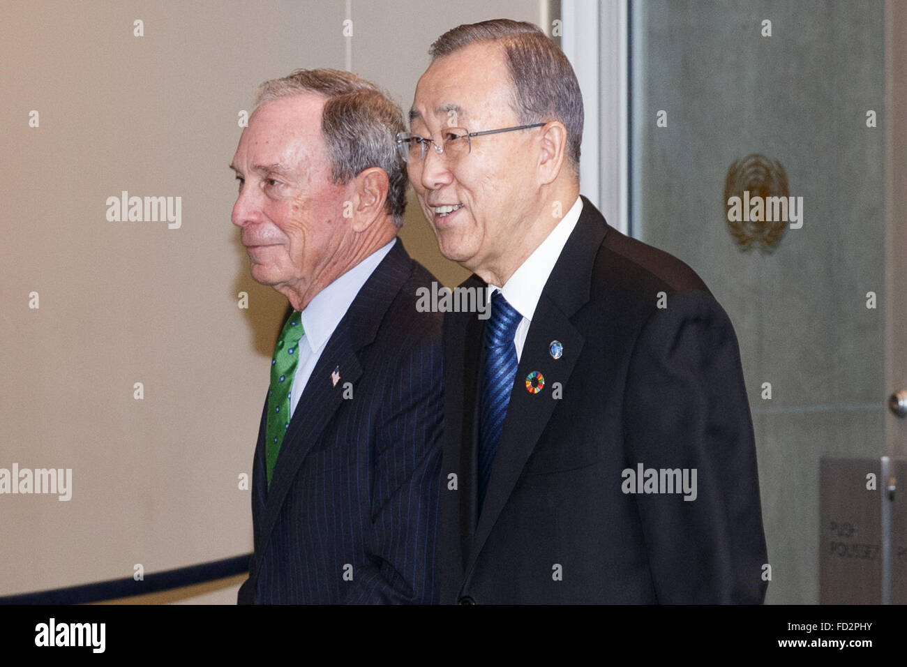 United Nations, United Nations Secretary-General Ban Ki-moon at the United Nations headquarters in New York. 27th - Stock Image