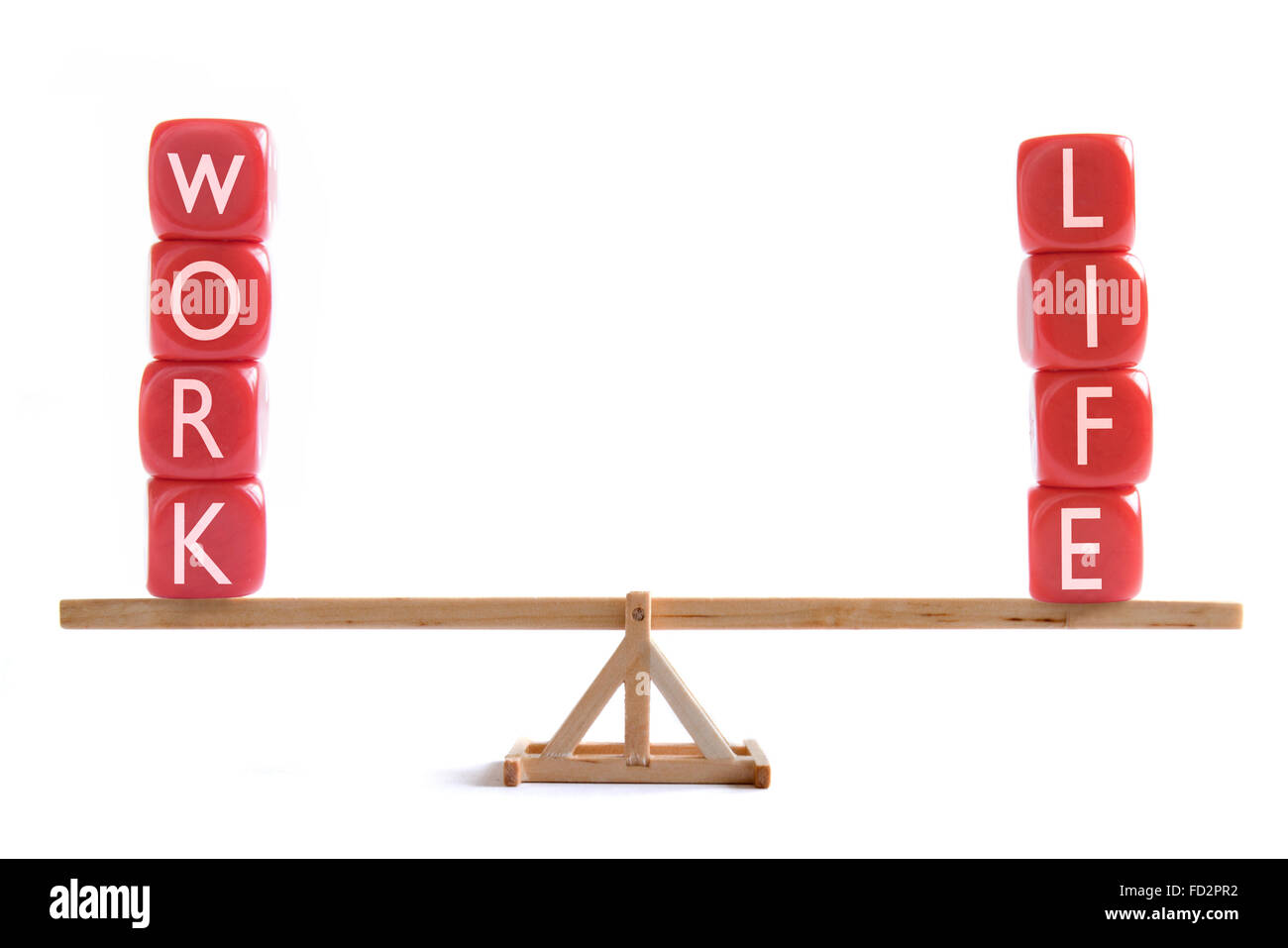 Work life balance concept - Stock Image