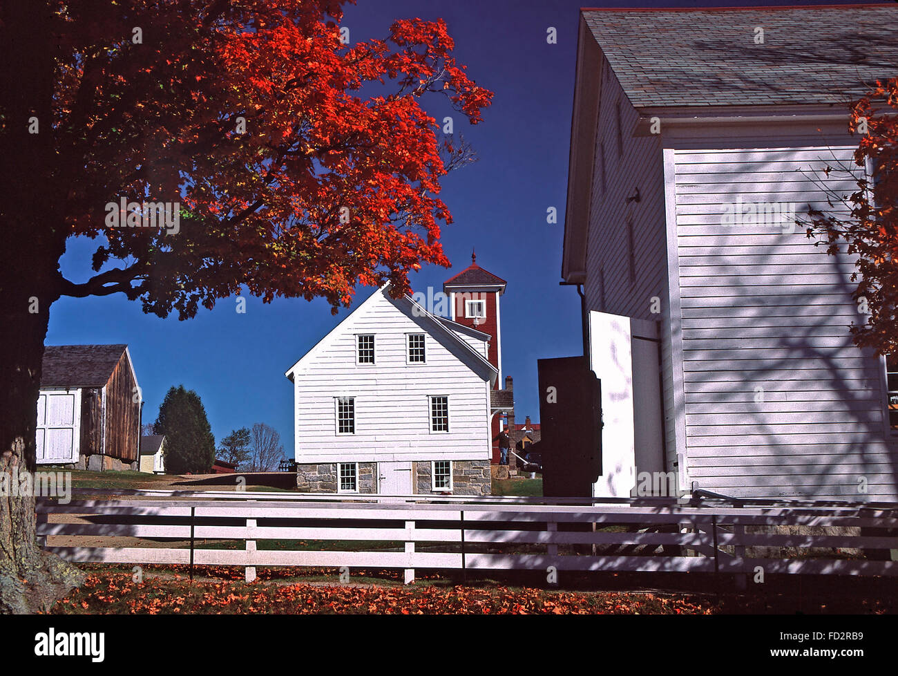 Canterberry Shaker Village at Canterberry Center,New Hampshirew - Stock Image