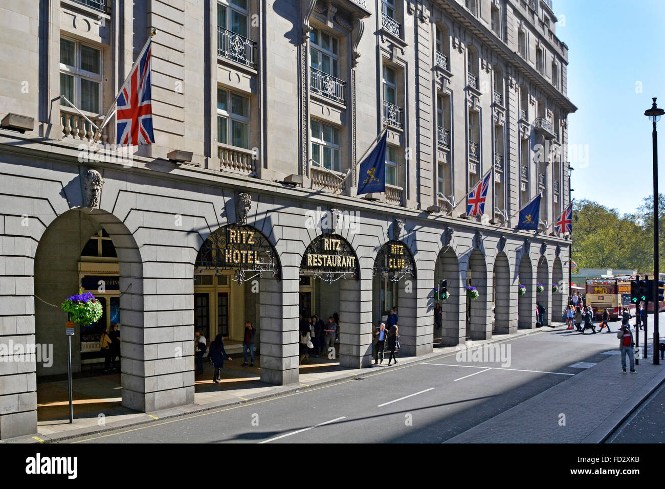The Ritz Hotel in Piccadilly London - Stock Image