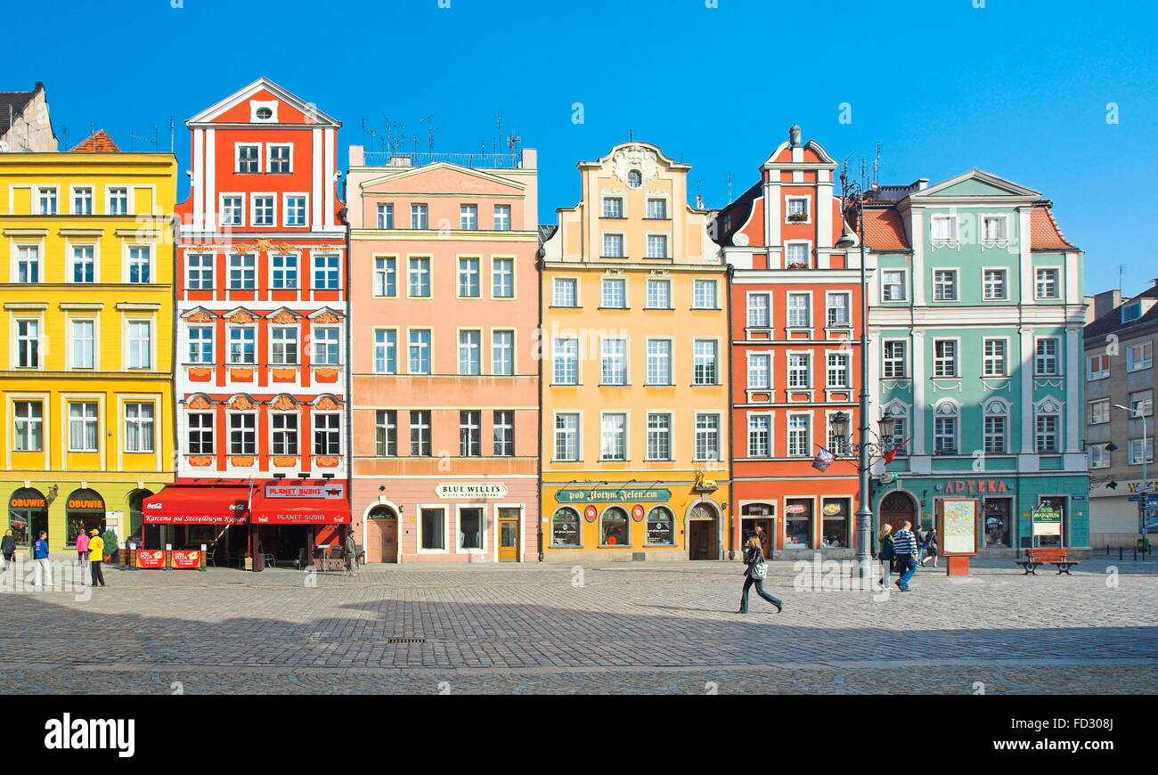 Old Town in Wroclaw, Poland - Stock Image