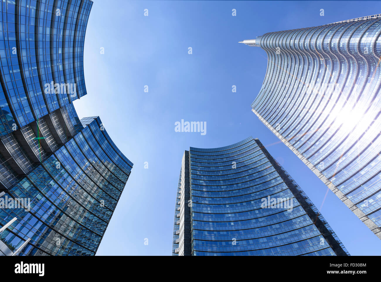 View of the new buildings in the square Gae Aulenti and Corso Como in Porta Nuova area, Milan, Itlaly. Stock Photo