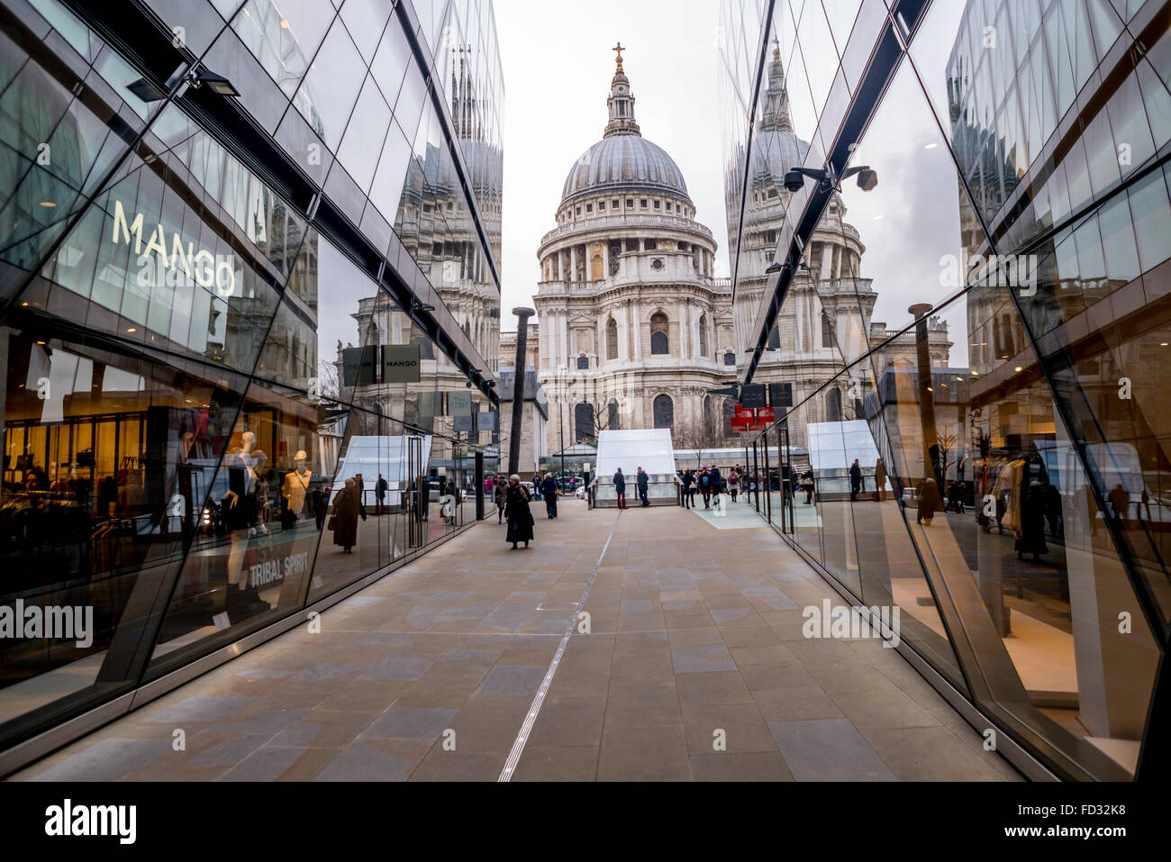 View of St.Paul from One New Change, London - Stock Image