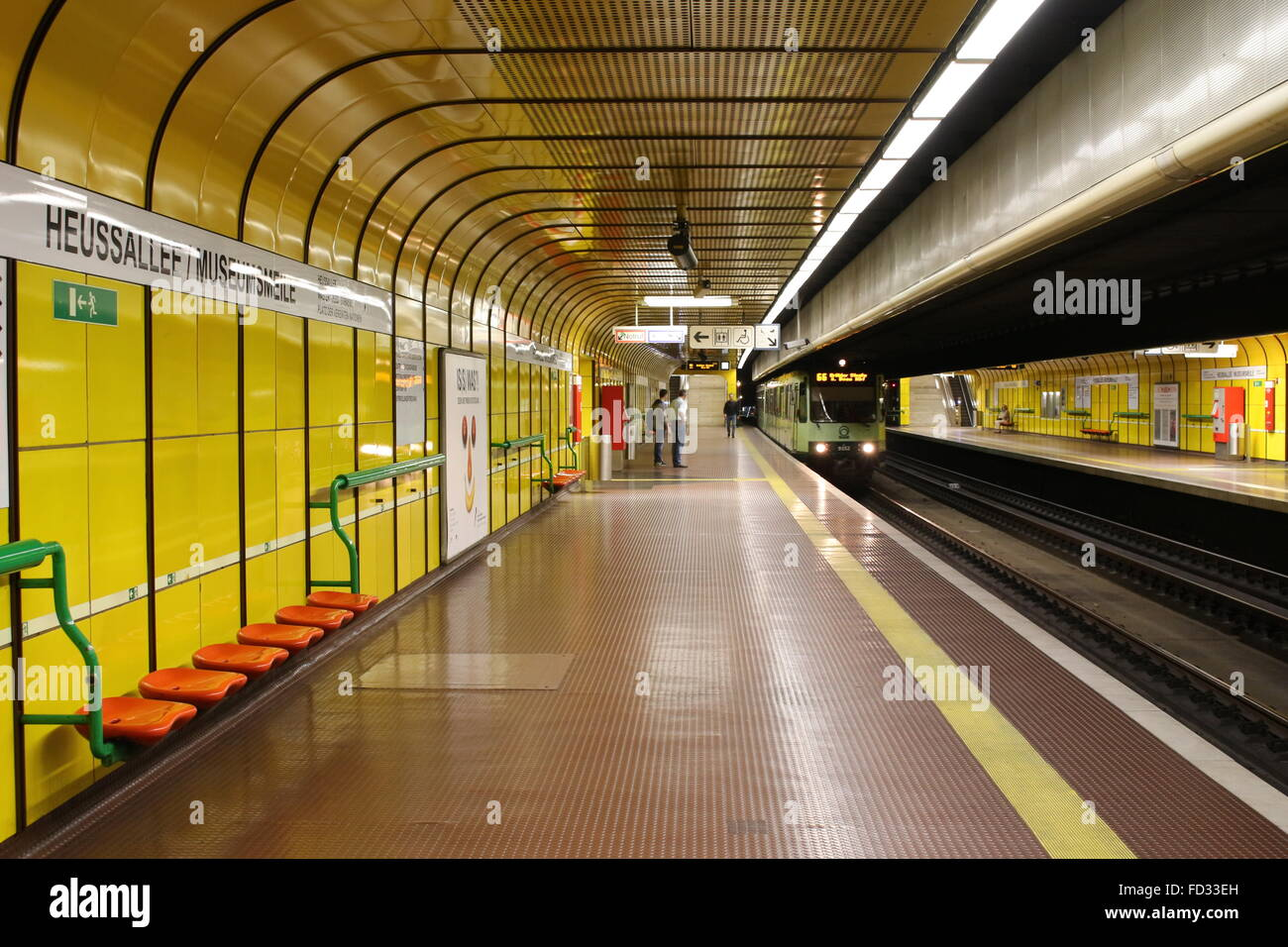 Bonn, Germany, underground station 'Heussallee' - Stock Image