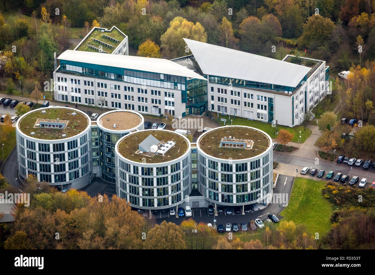 Aerial view, Institute of Environmental Engineering, Dental and Biomedicine Research and Development Center Witten, - Stock Image
