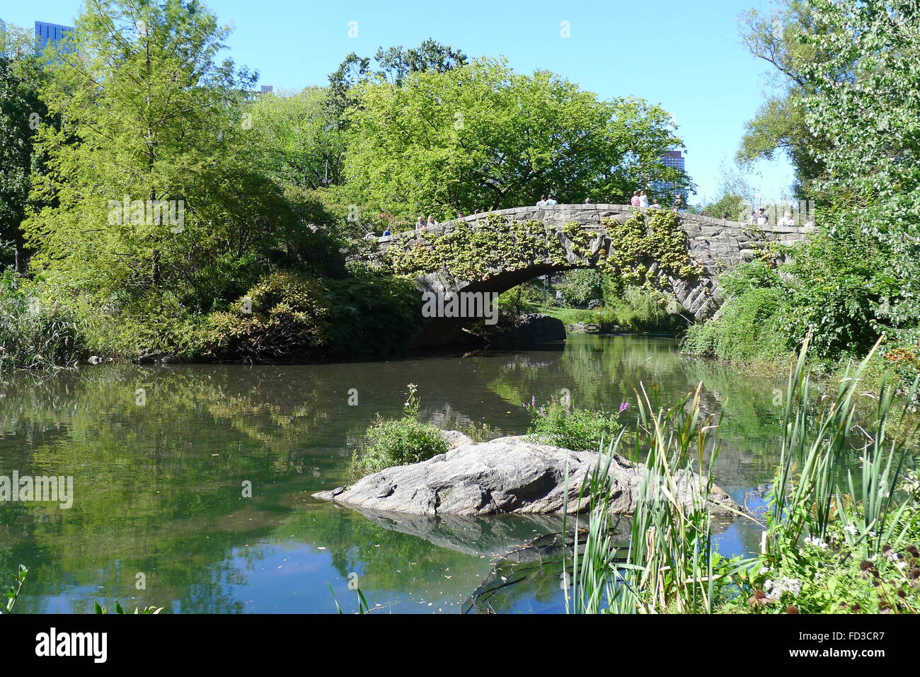 Gapstow Bridge in New York Central Park - Stock Image