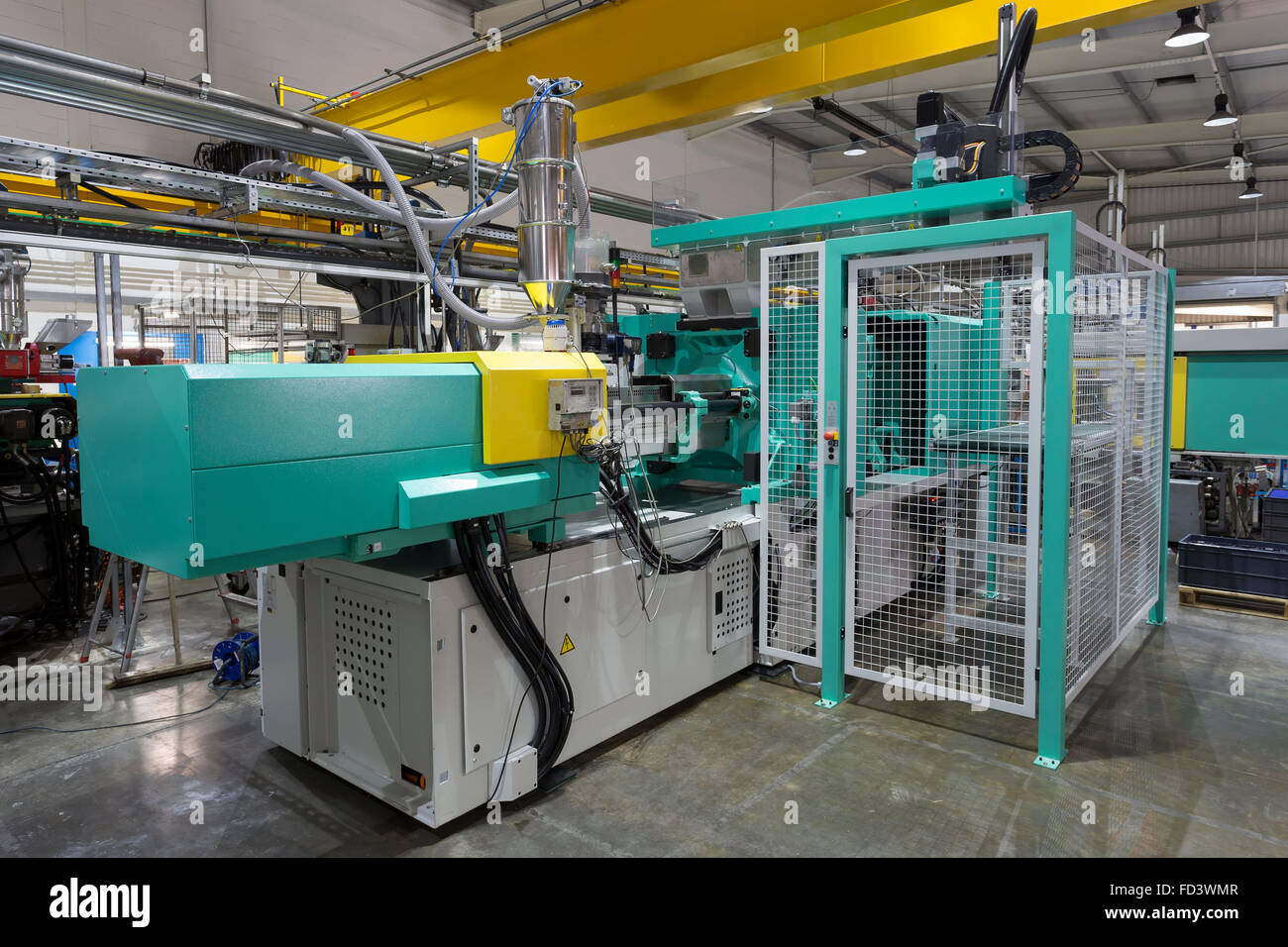 Plastic Injection Moulding Machine - Stock Image