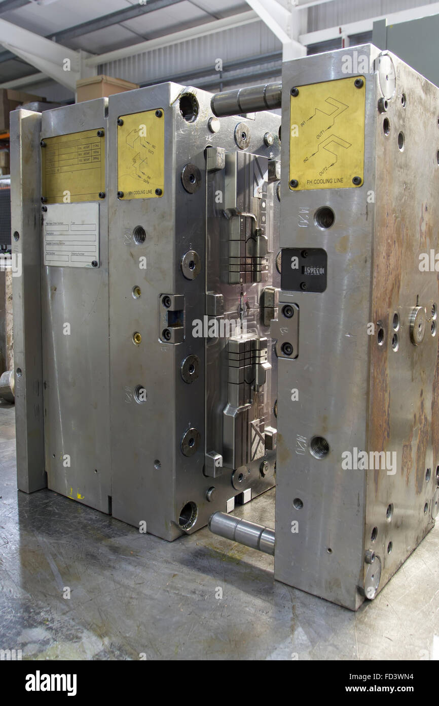 Injection moulding machine tool - Stock Image
