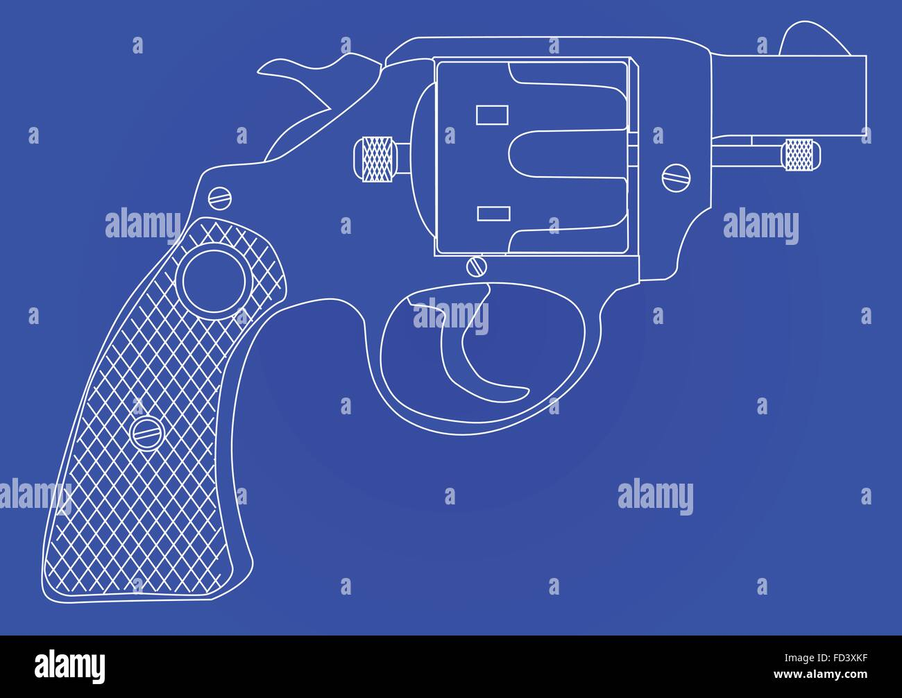 A snub nose handgun as used by police forces as a blueprint stock a snub nose handgun as used by police forces as a blueprint malvernweather Choice Image