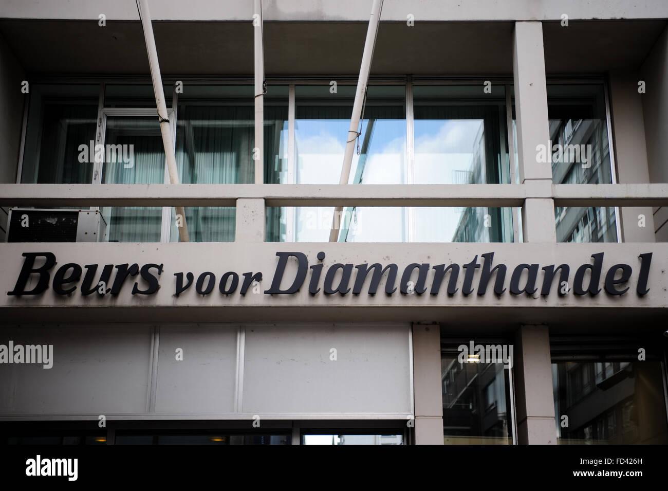 Diamond Stock Exchange (trading bourse) Antwerp, Belgium - Stock Image