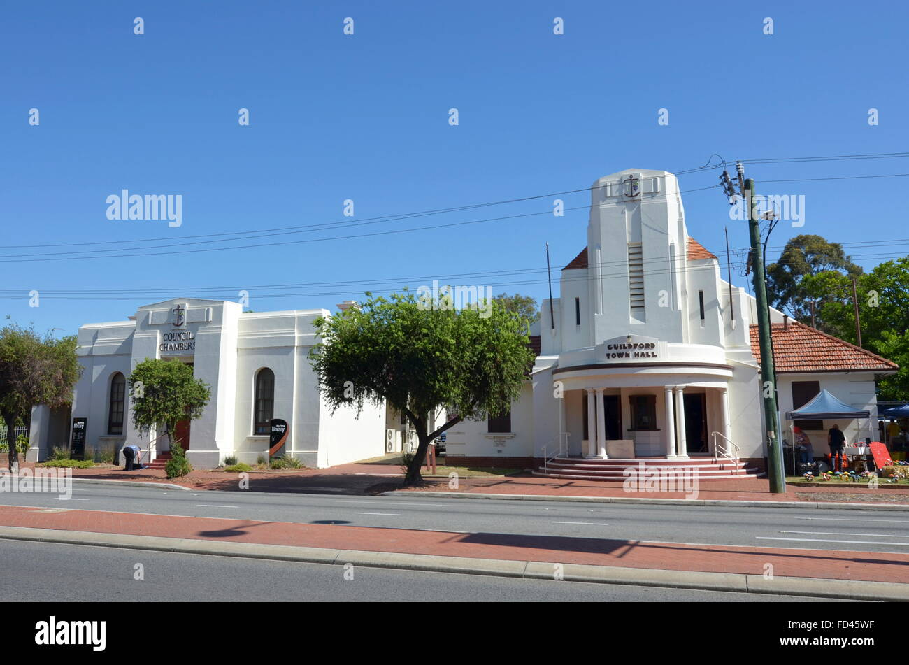 Guildford Library and Town Hall in Guildford, Australia - Stock Image