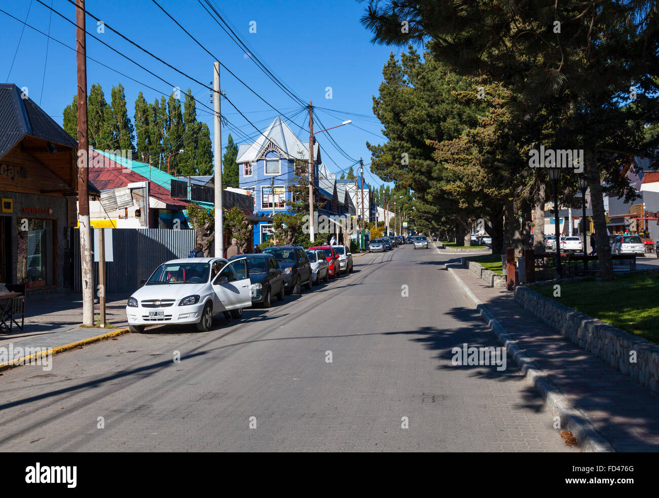 Small town of El Calafate in Argentina - Stock Image