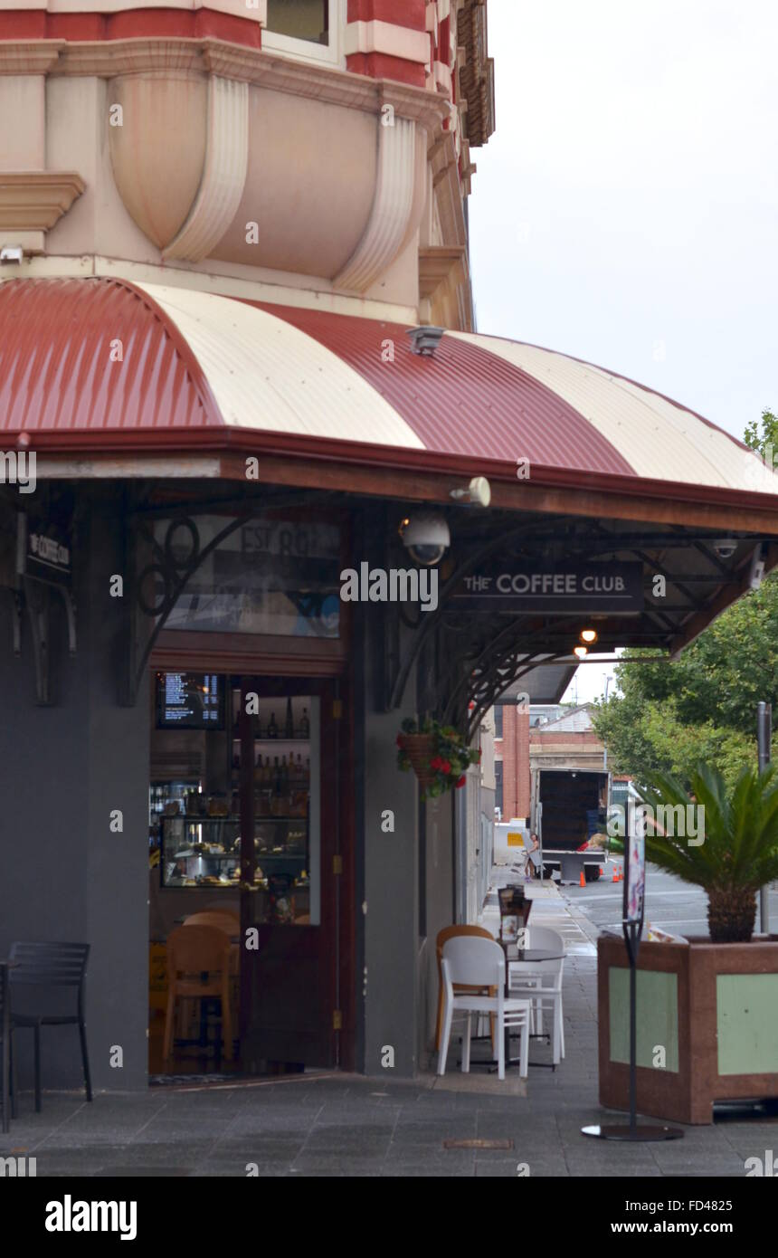 The Coffee Club cafe, Fremantle, Western Australia - Stock Image