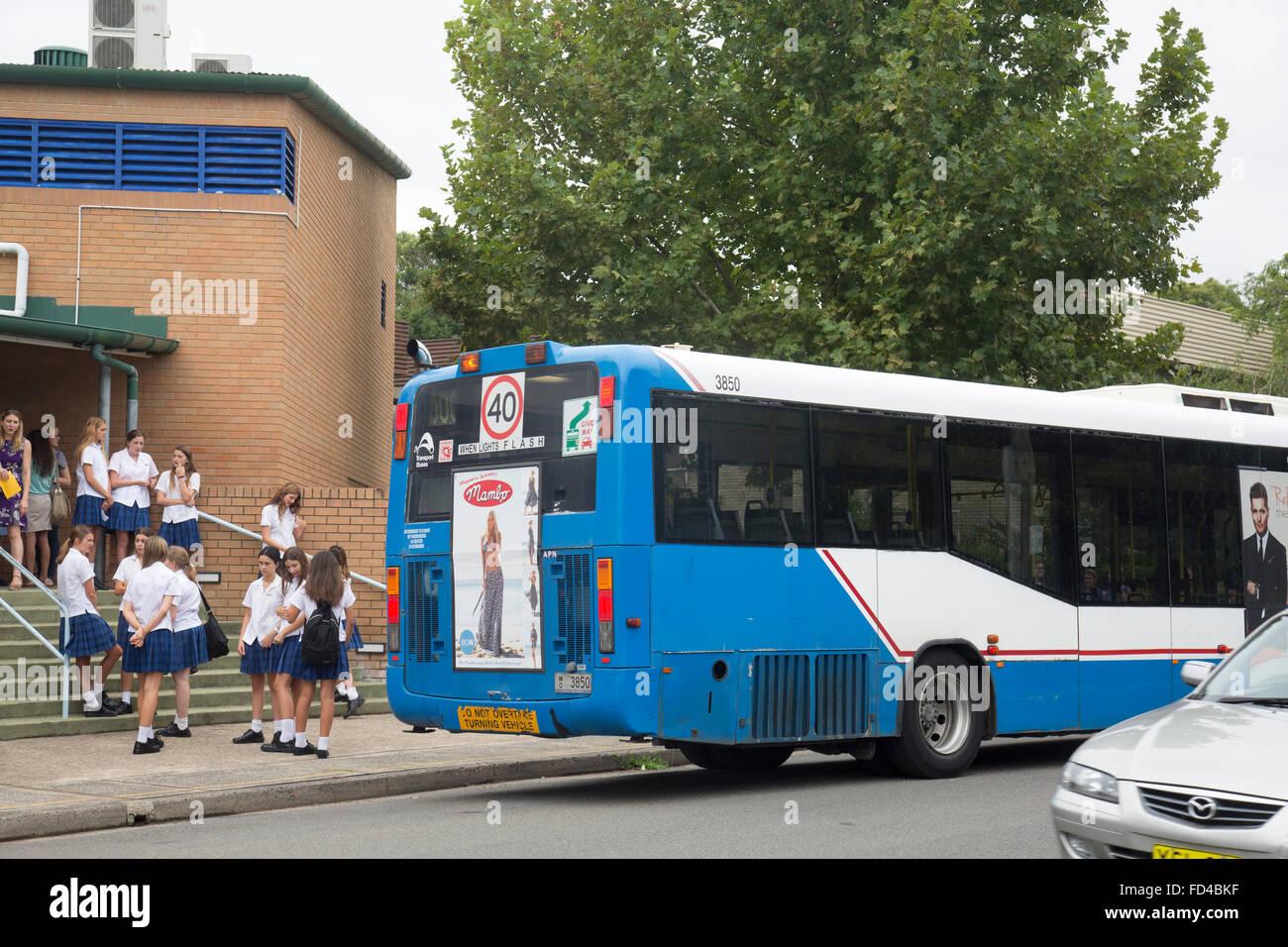 Mackellar secondary girls school in manly vale,Sydney,New south wales,australia - Stock Image