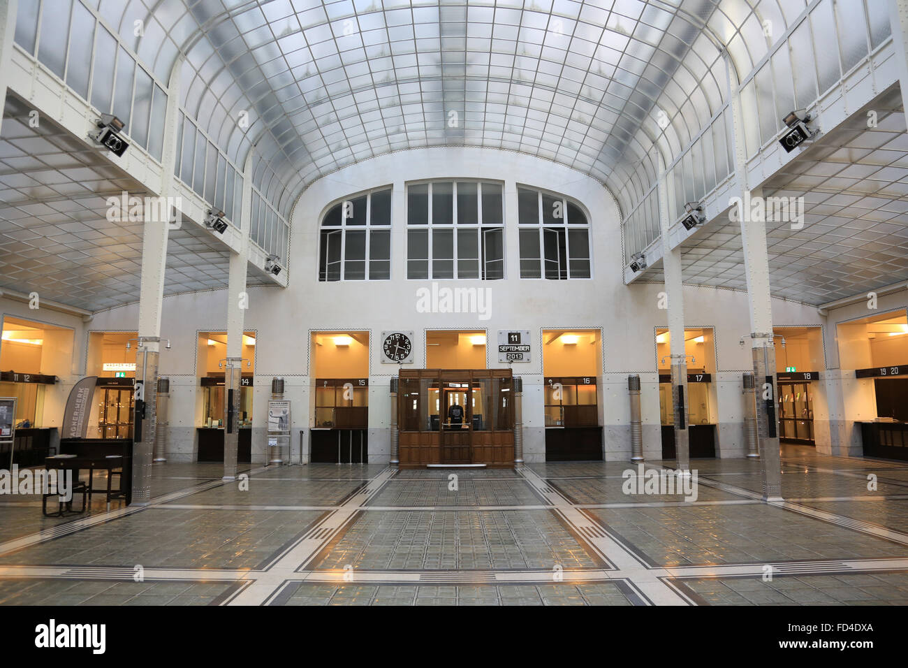 Hall. Postal Office Savings Bank Building by Otto Wagner. - Stock Image