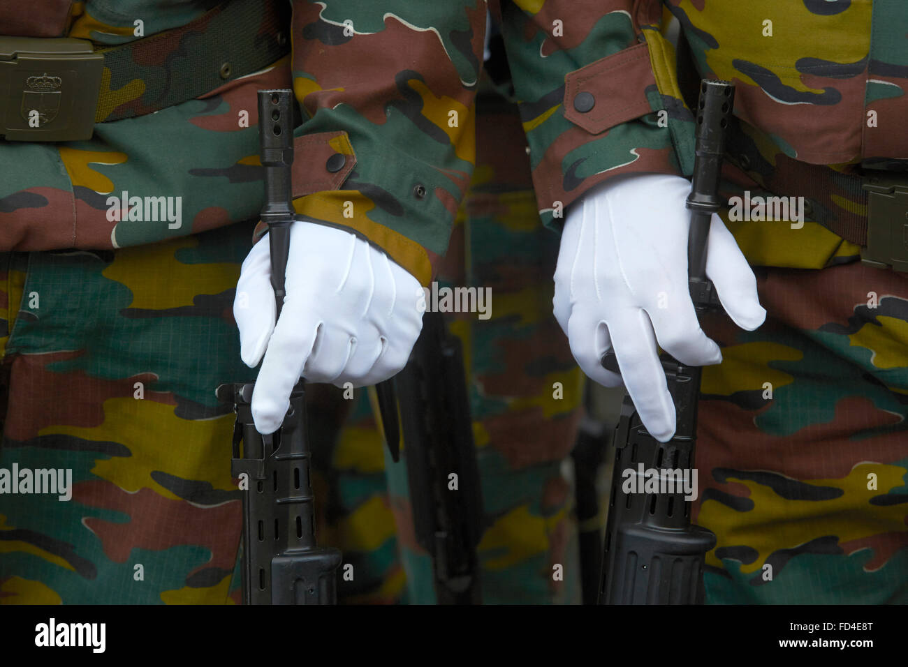 Belgian military - Stock Image