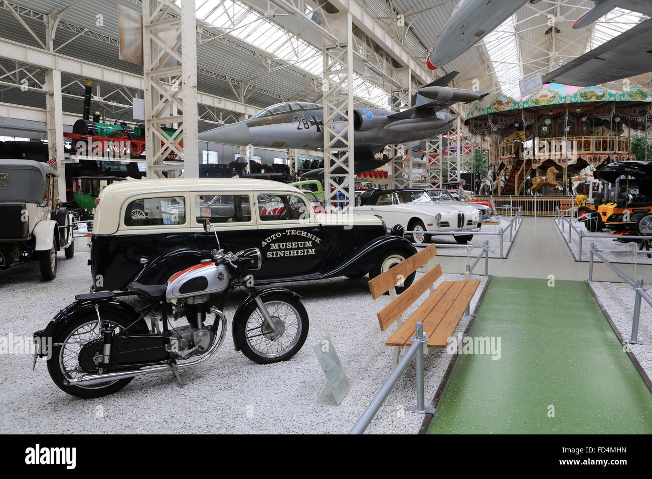 Old cars show. The  Speyer Technik Museum. - Stock Image