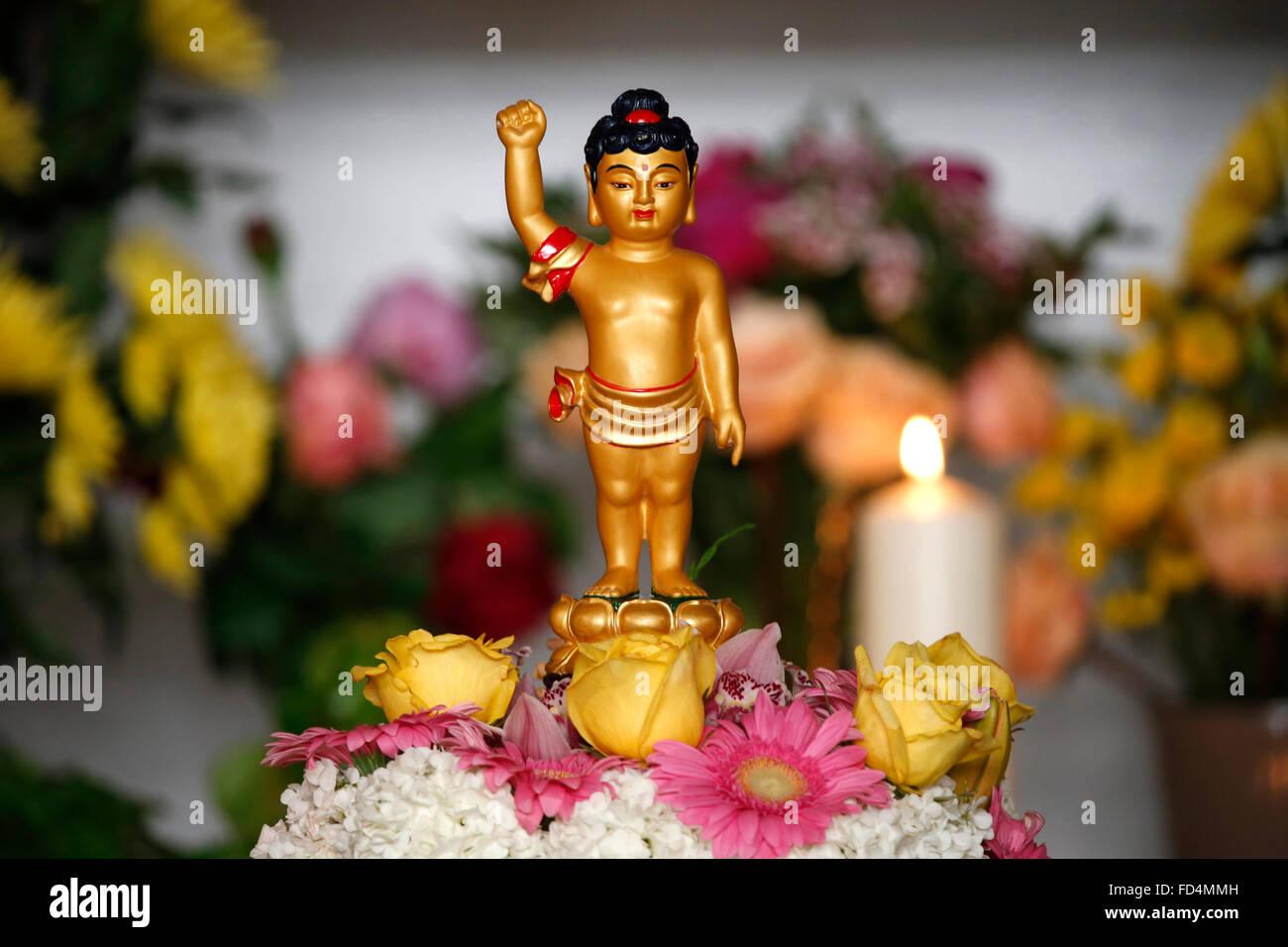 Wesak (Buddha's birthday, awakening & nirvana) celebration at the Great Buddhist Temple (Grande Pagode de - Stock Image