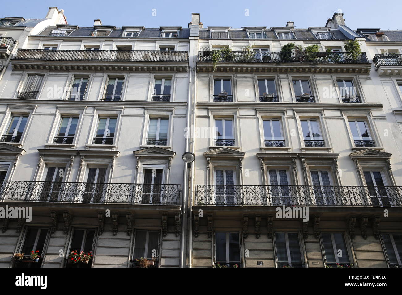Paris building faade. - Stock Image