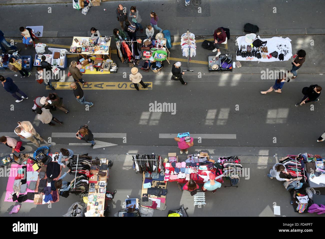 Second-hand market in Paris. - Stock Image