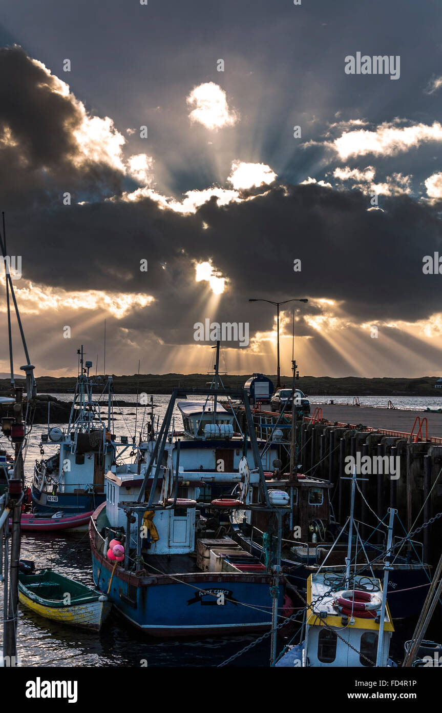 Burtonport Harbour in County Donegal Ireland - Stock Image