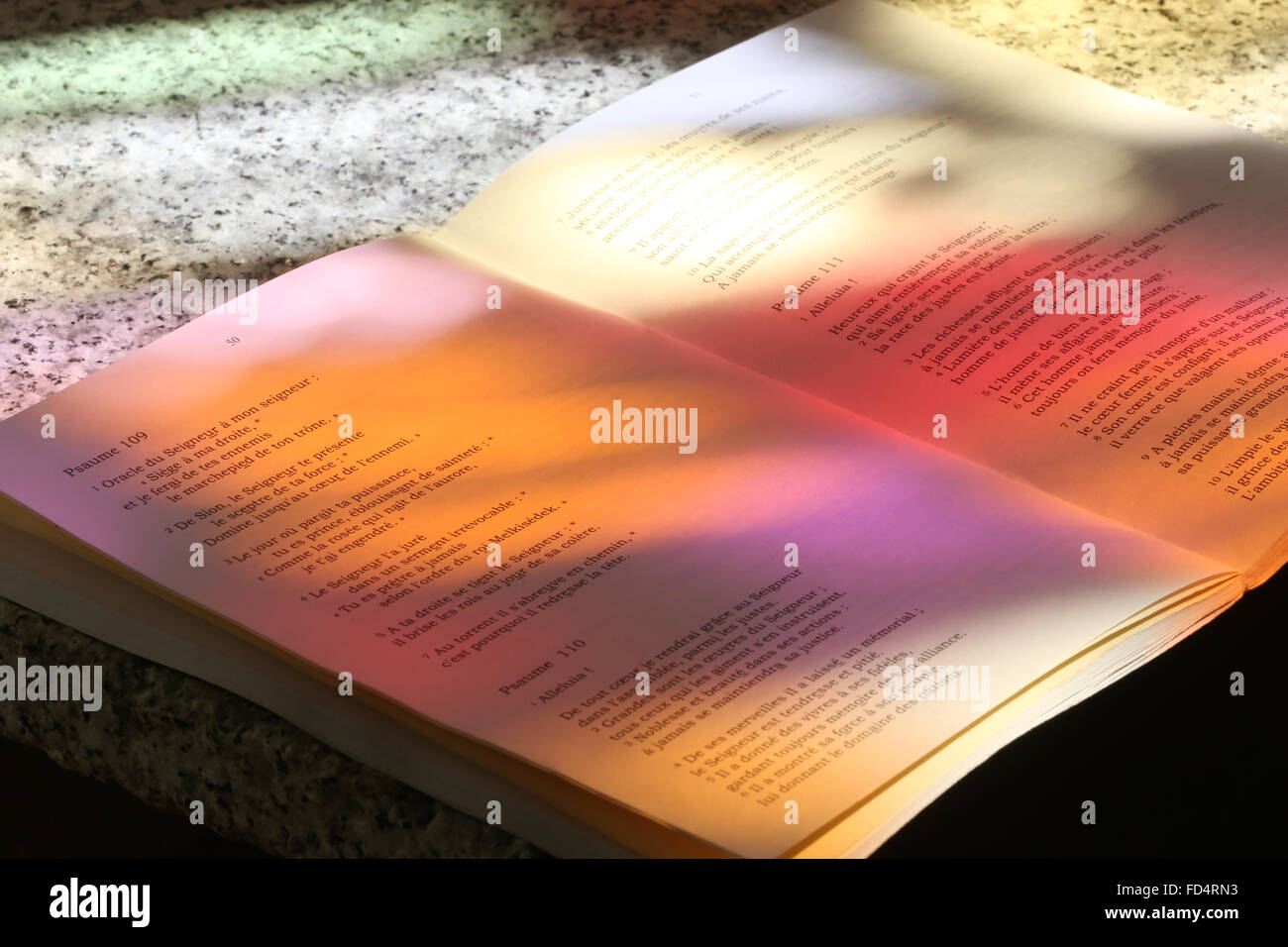 The Book of Psalms. Stock Photo