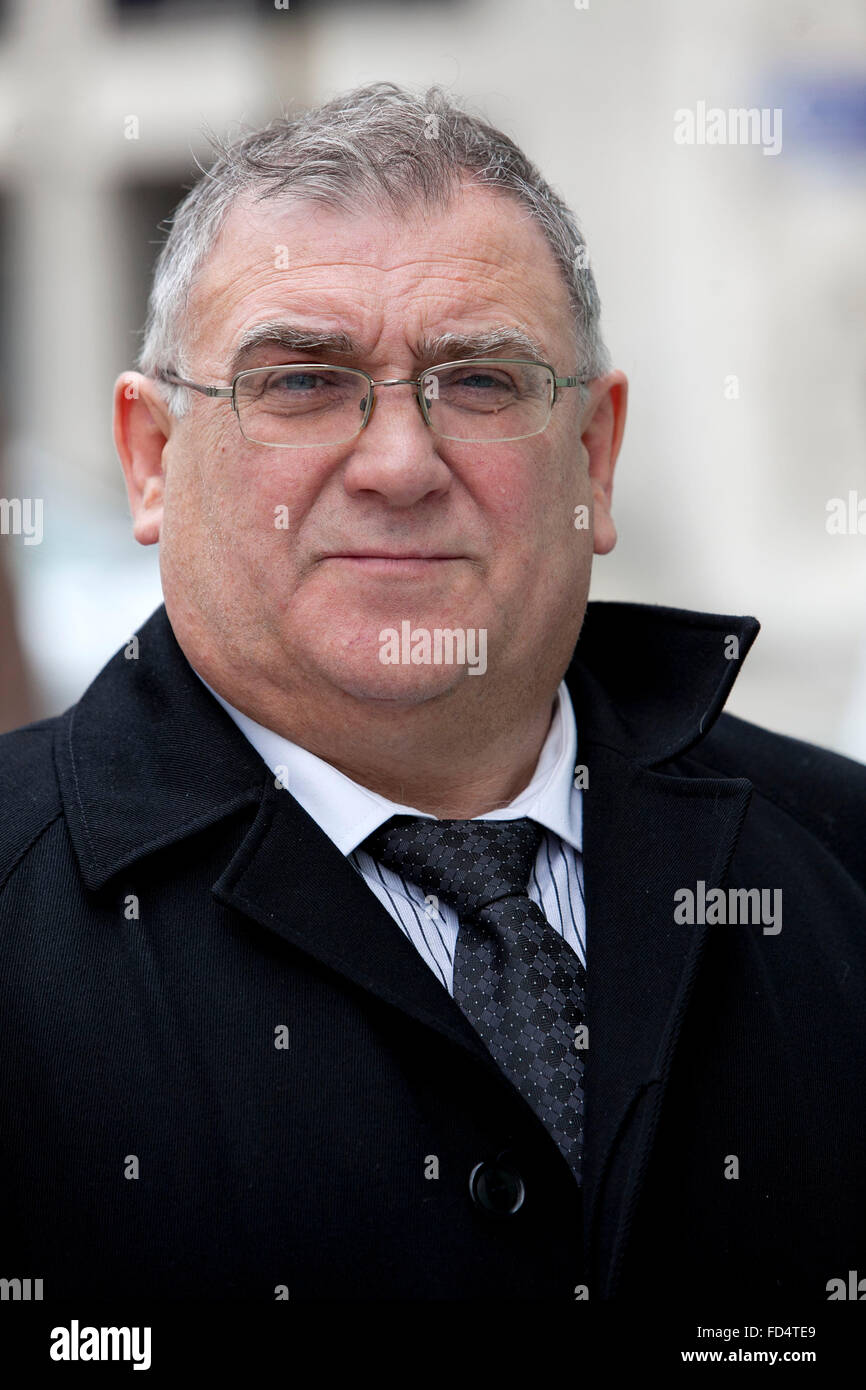 Colin MacAlister  (correct)  , former Mayor of Stockport , leaves Manchester Crown Court.  He was cleared of all - Stock Image