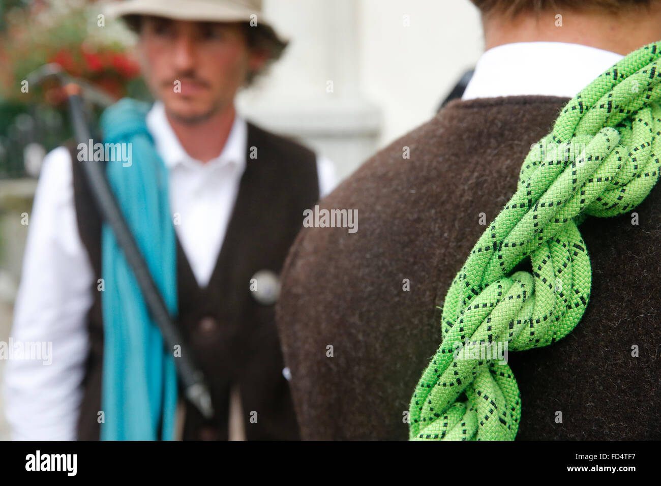 150th anniversary of the Saint Gervais mountain guides. - Stock Image
