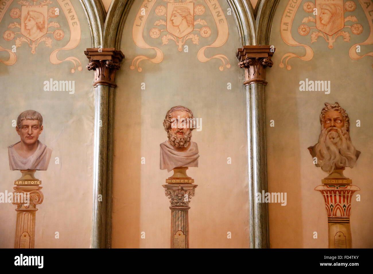 Humanity Temple. Positivist calendar. - Stock Image