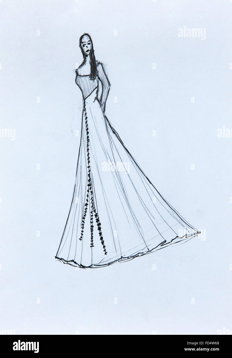 Fashion Designer Drawing Coat High Resolution Stock Photography And Images Alamy