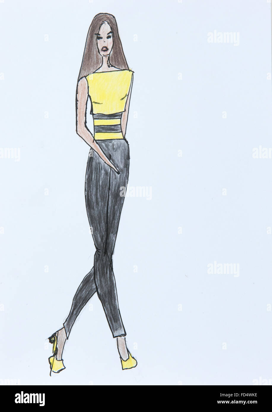 casual dress casual fashion sketches
