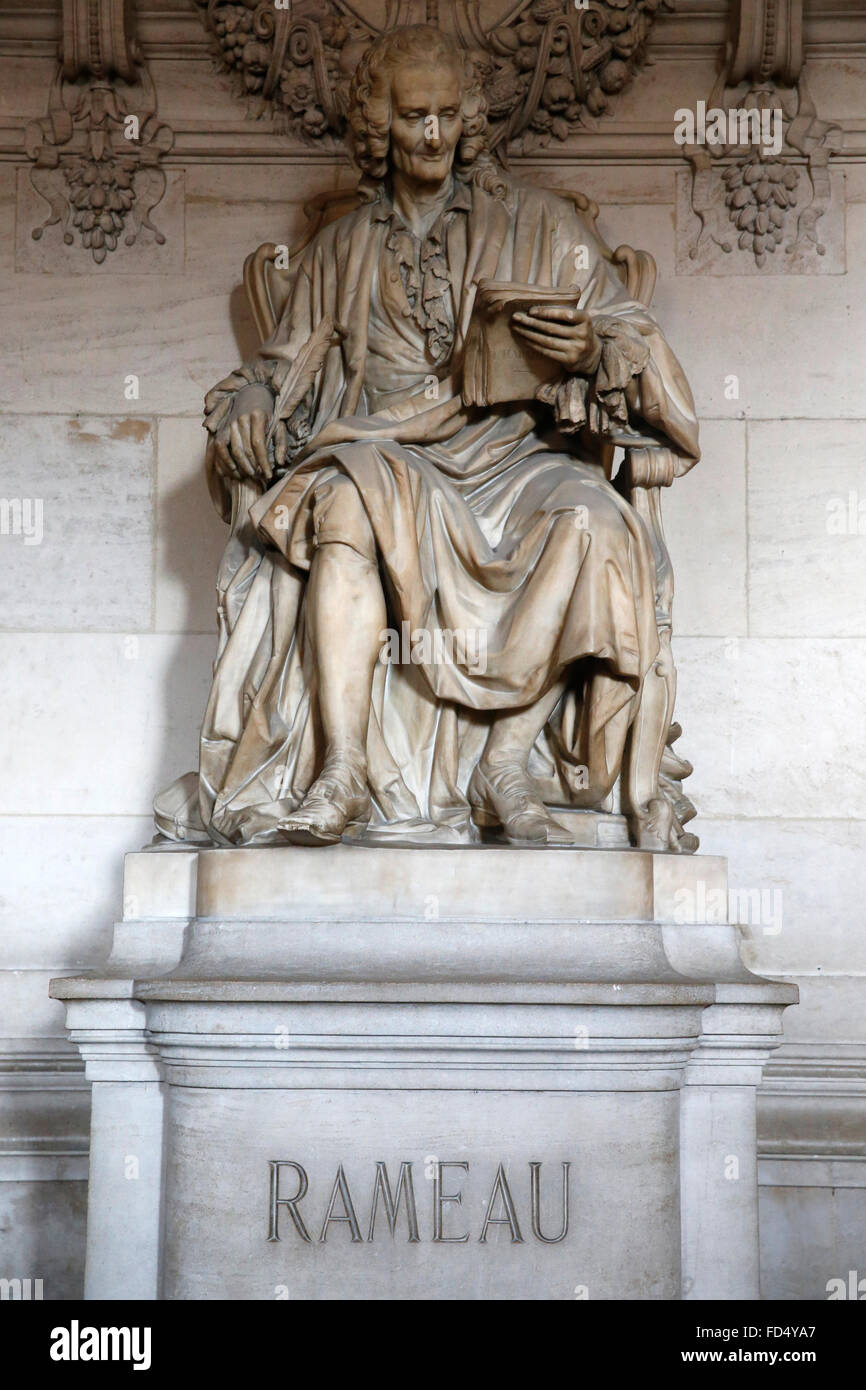 Palais Garnier. Paris Opera. Jean-Philippe Rameau. - Stock Image