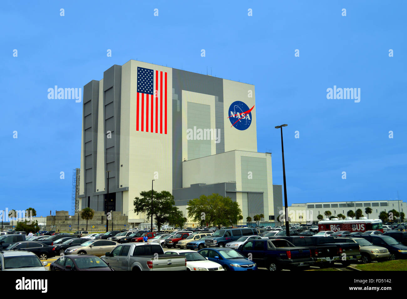 NASA Vehicle Assembly Building at Kennedy Space Center - Stock Image