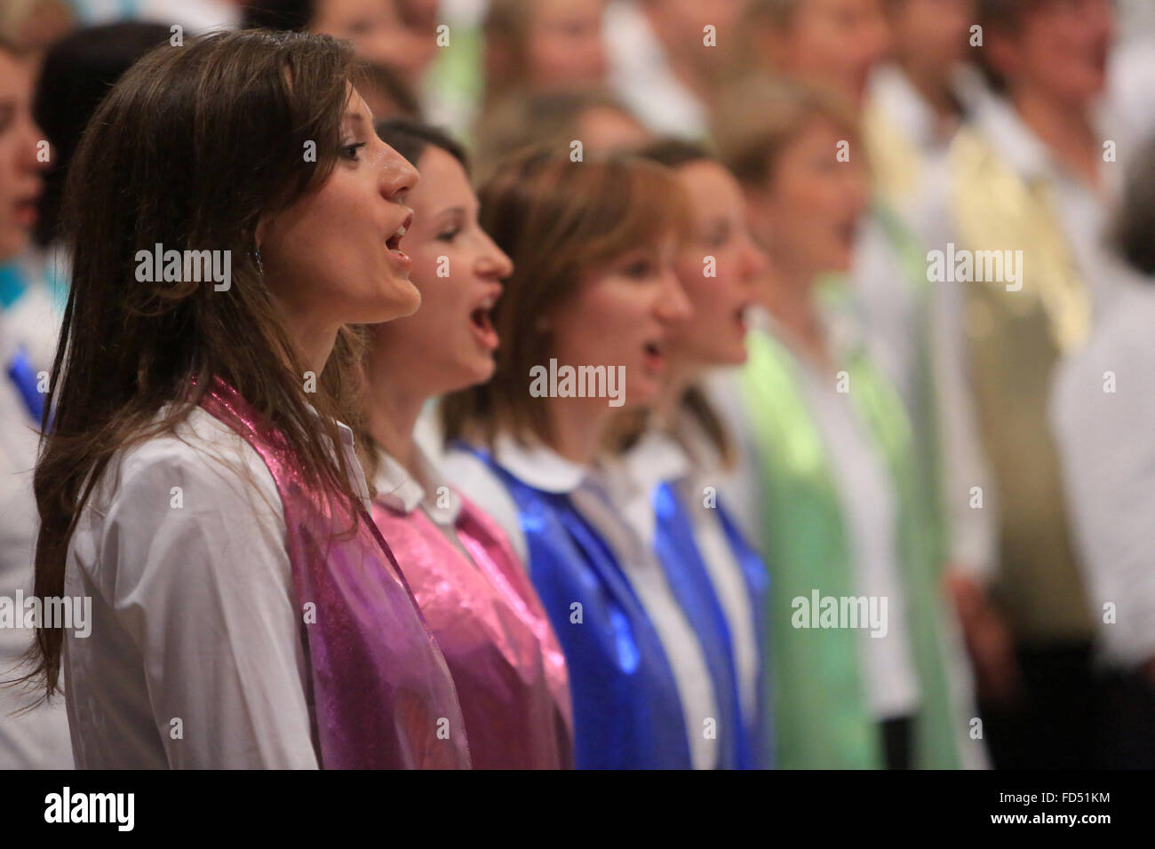 Choir. Shrine of Our Lady of la Salette. - Stock Image
