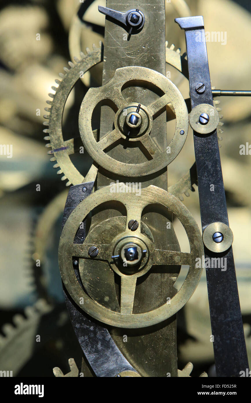 Mechanism. Astronomical Clock Mr. Truth. 1866. Beauvais Cathedral. - Stock Image