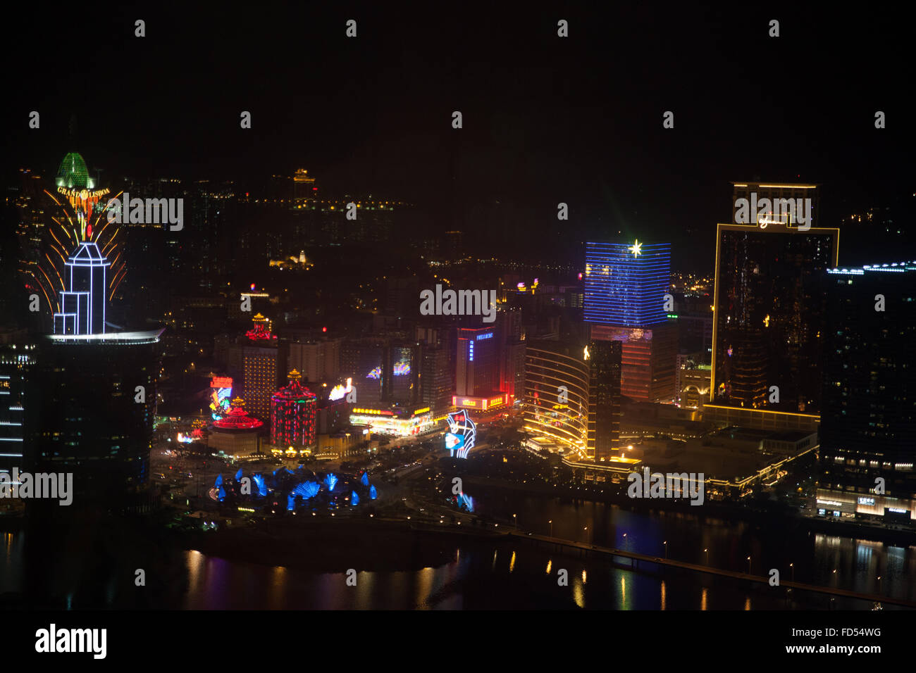 Cityscape At Night - Stock Image