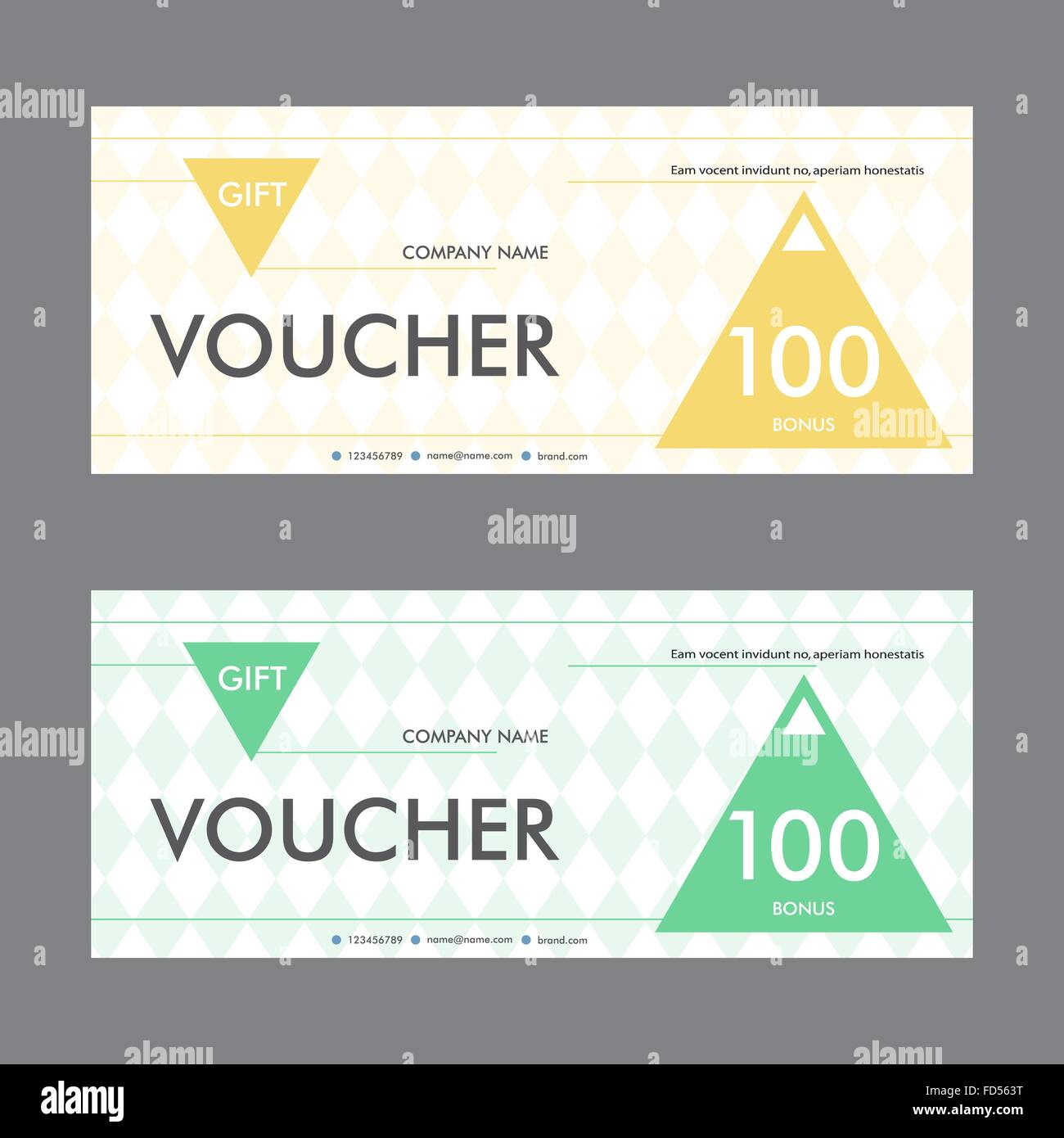 Template design gift voucher with triangular elements beautiful template design gift voucher with triangular elements beautiful design certificate yelopaper Gallery