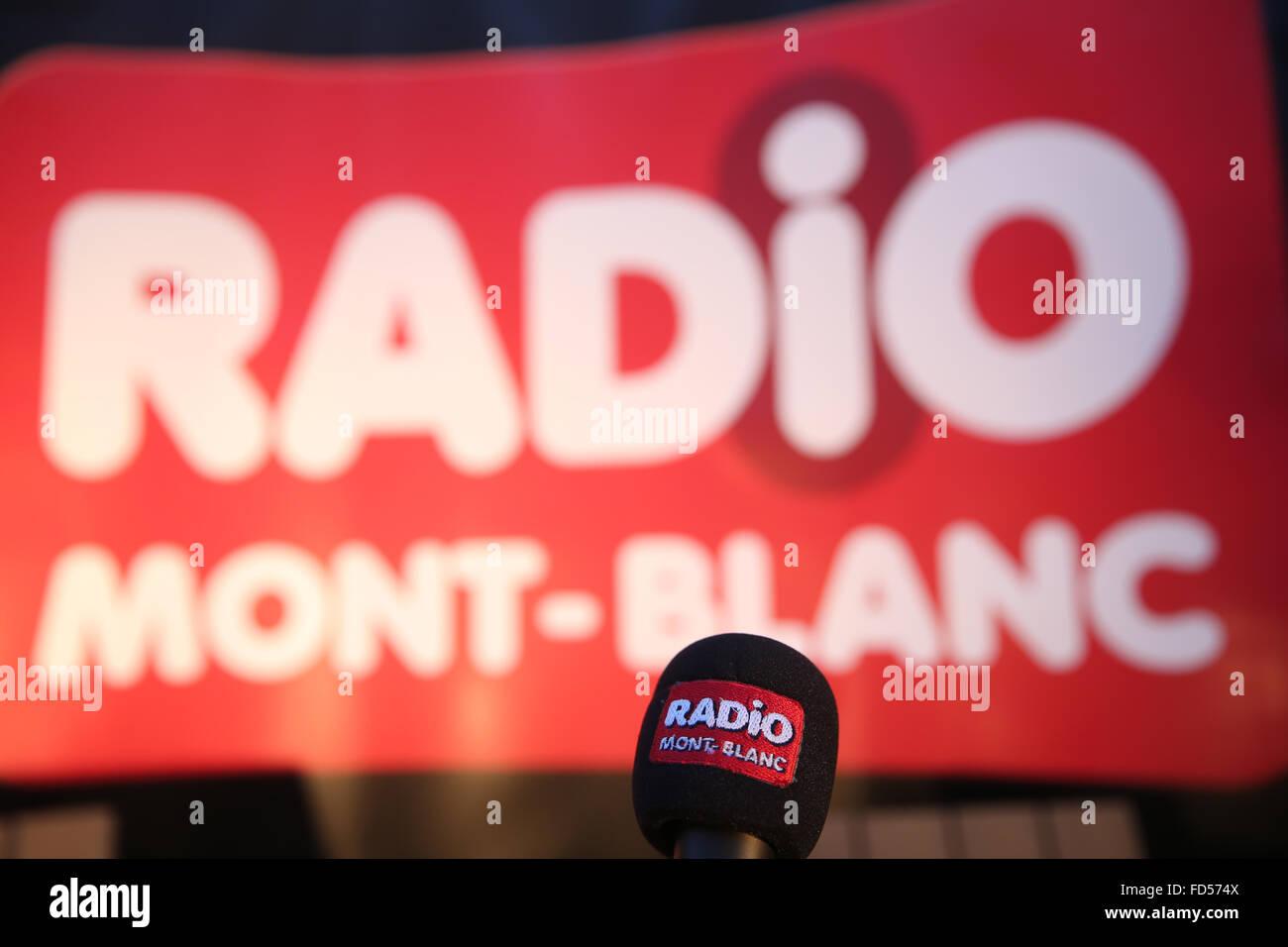 Radio Mont-Blanc. - Stock Image
