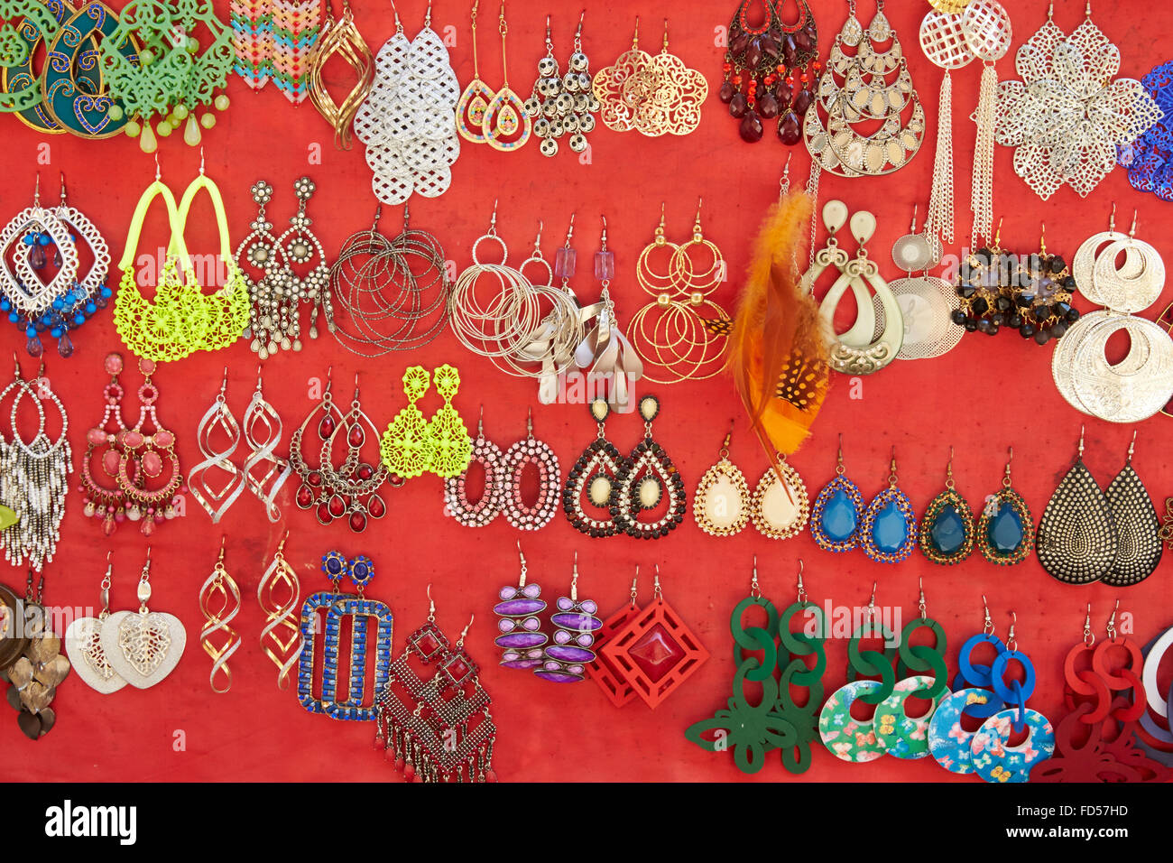 Cheap jewelry. - Stock Image