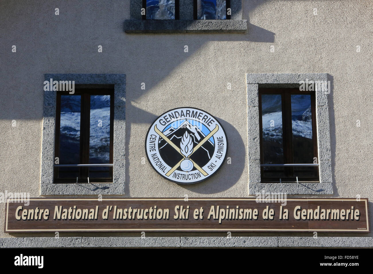 Centre National Ski and Mountaineering Instruction of the Force. (CNISAG). Chamonix. - Stock Image