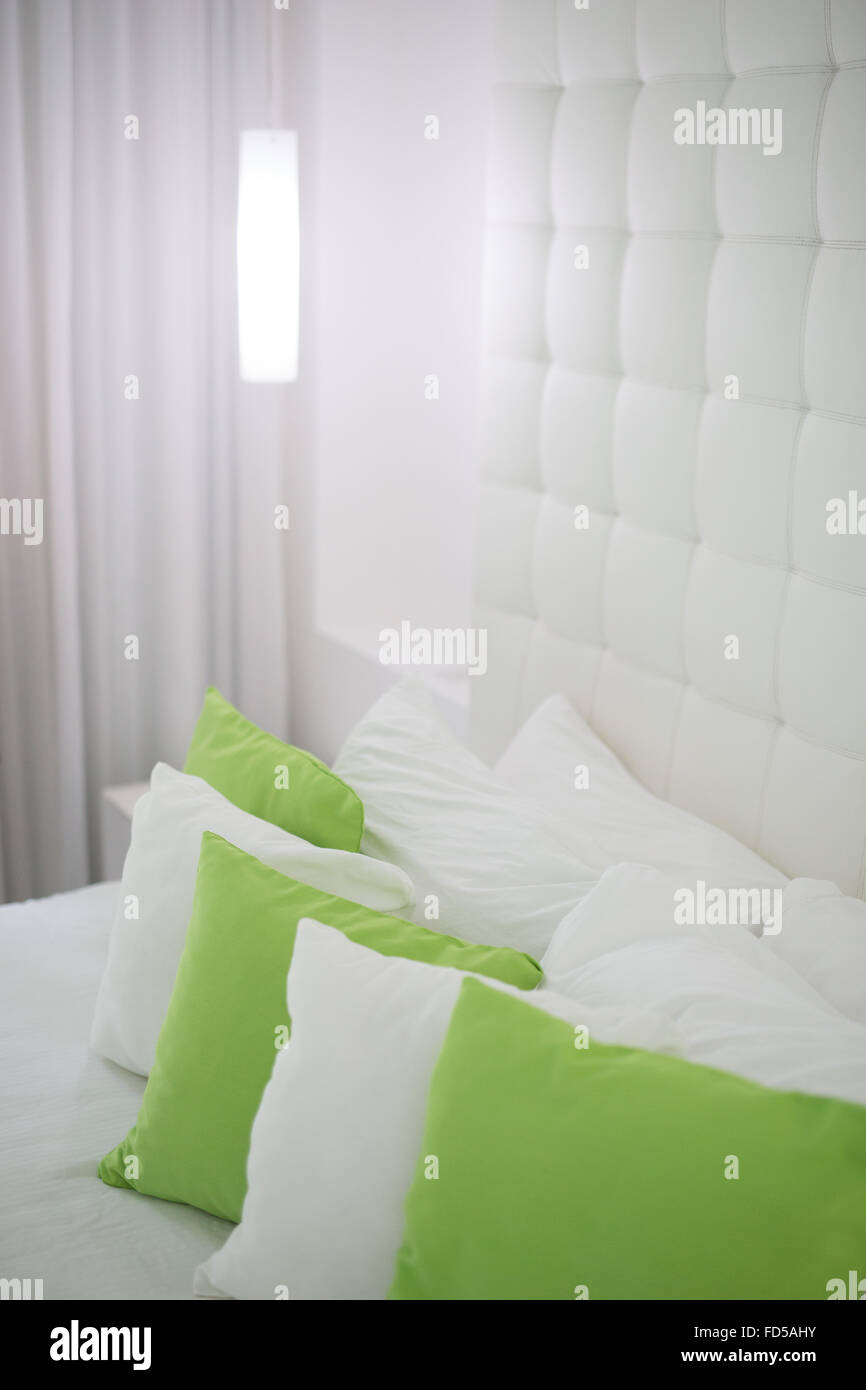 Lime Green Bedroom Stock Photos & Lime Green Bedroom Stock ...