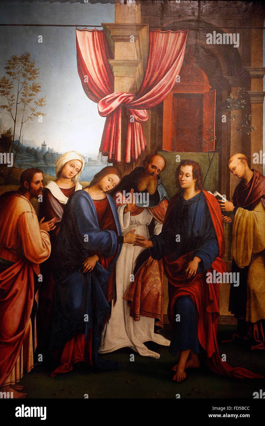 National Gallery Bologna Marriage Of Mary And Joseph Lorenzo