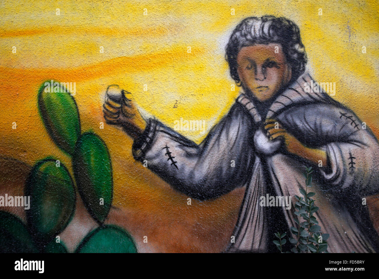 Wall art near Qalandiya refugee camp, West Bank, Palestine Stock ...