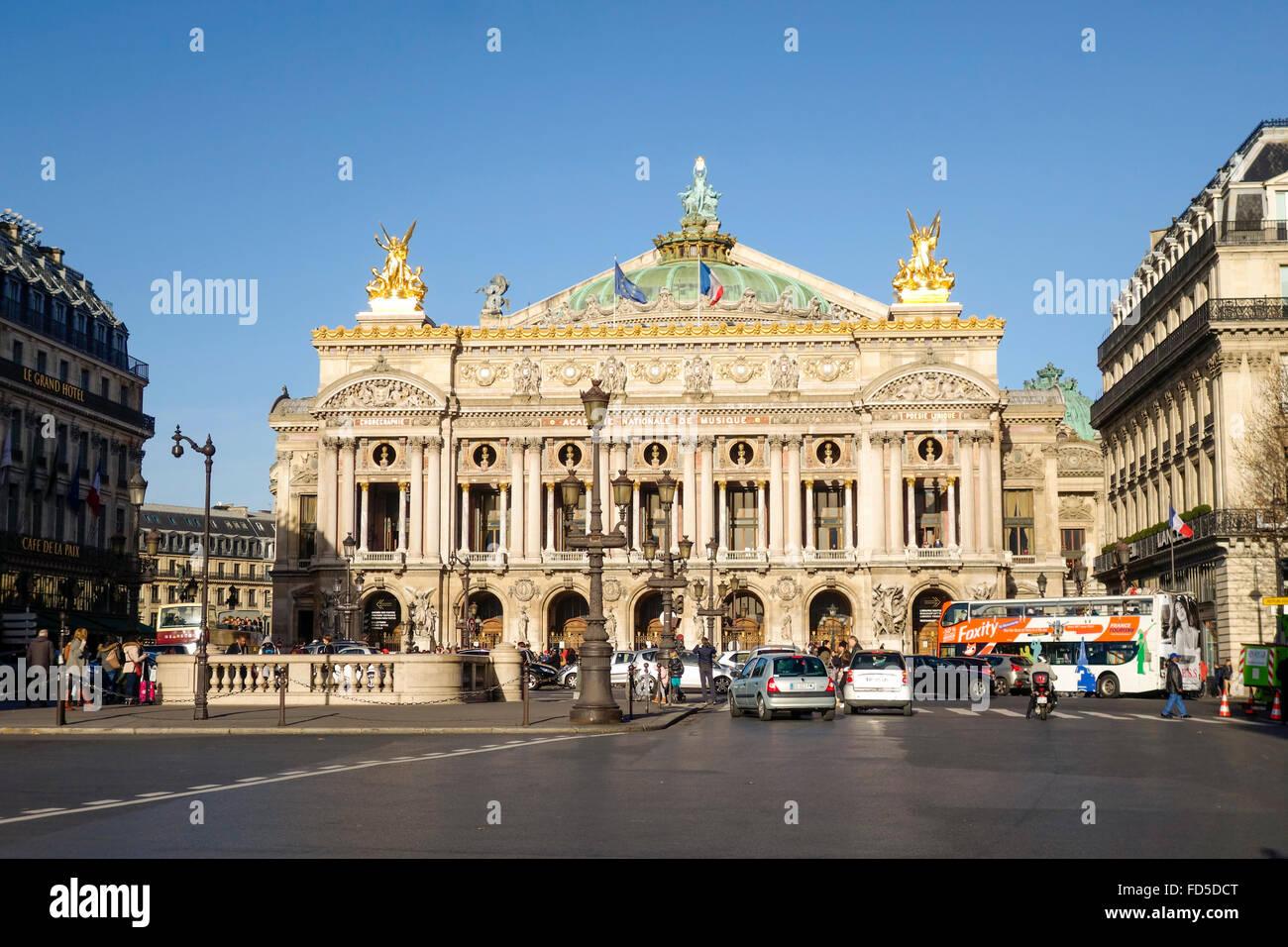 The Palais Garnier, Opera House, 9th arrondissement, Place de l'Opéra, in Paris, France. - Stock Image