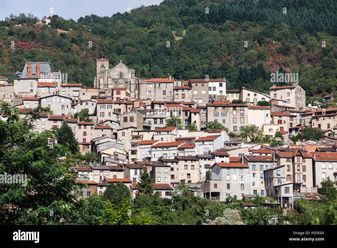 Thiers, Puy-de-Dôme, Auvergne, France - Stock Image