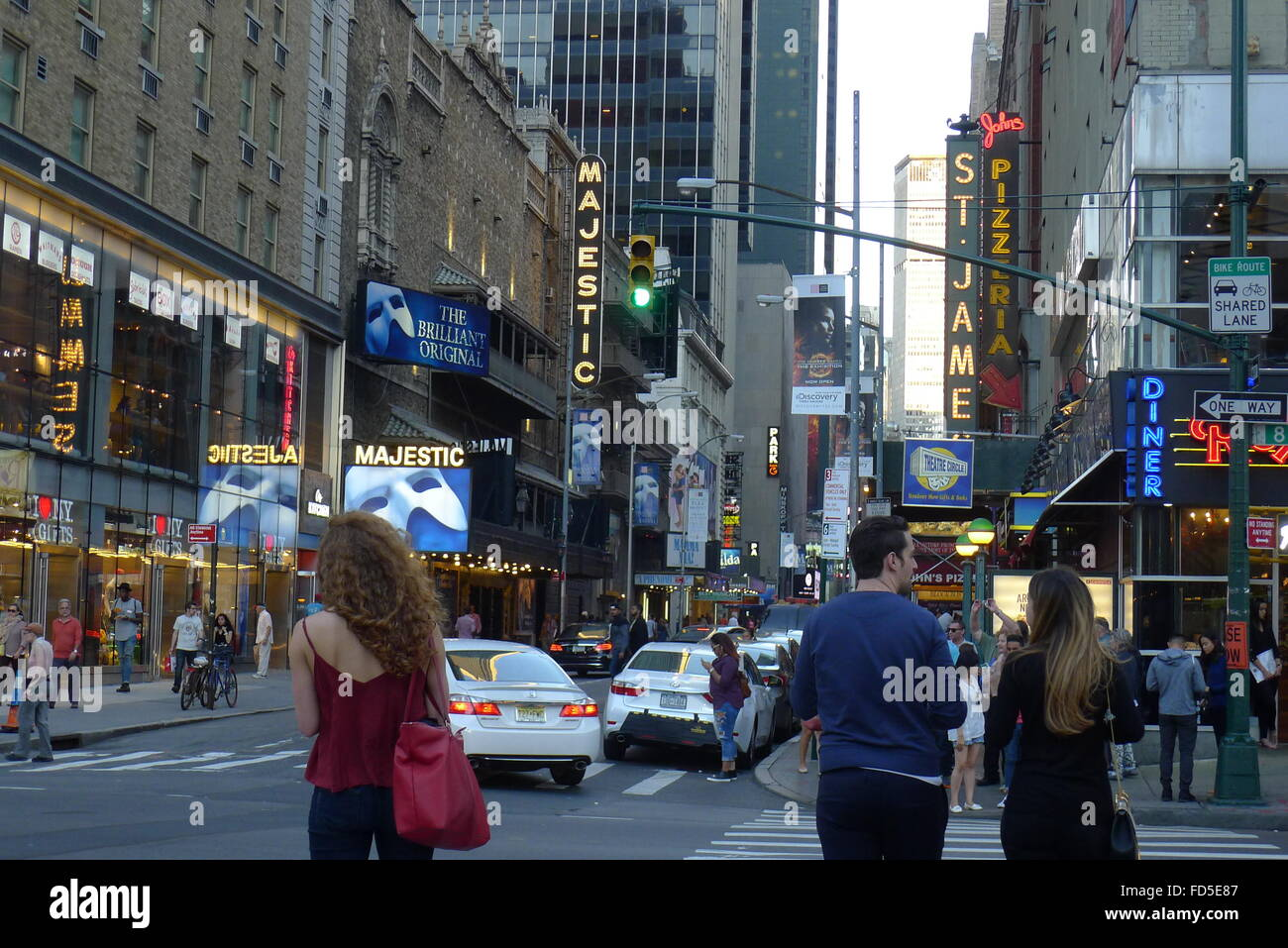44th Street NYC Theater District - Stock Image