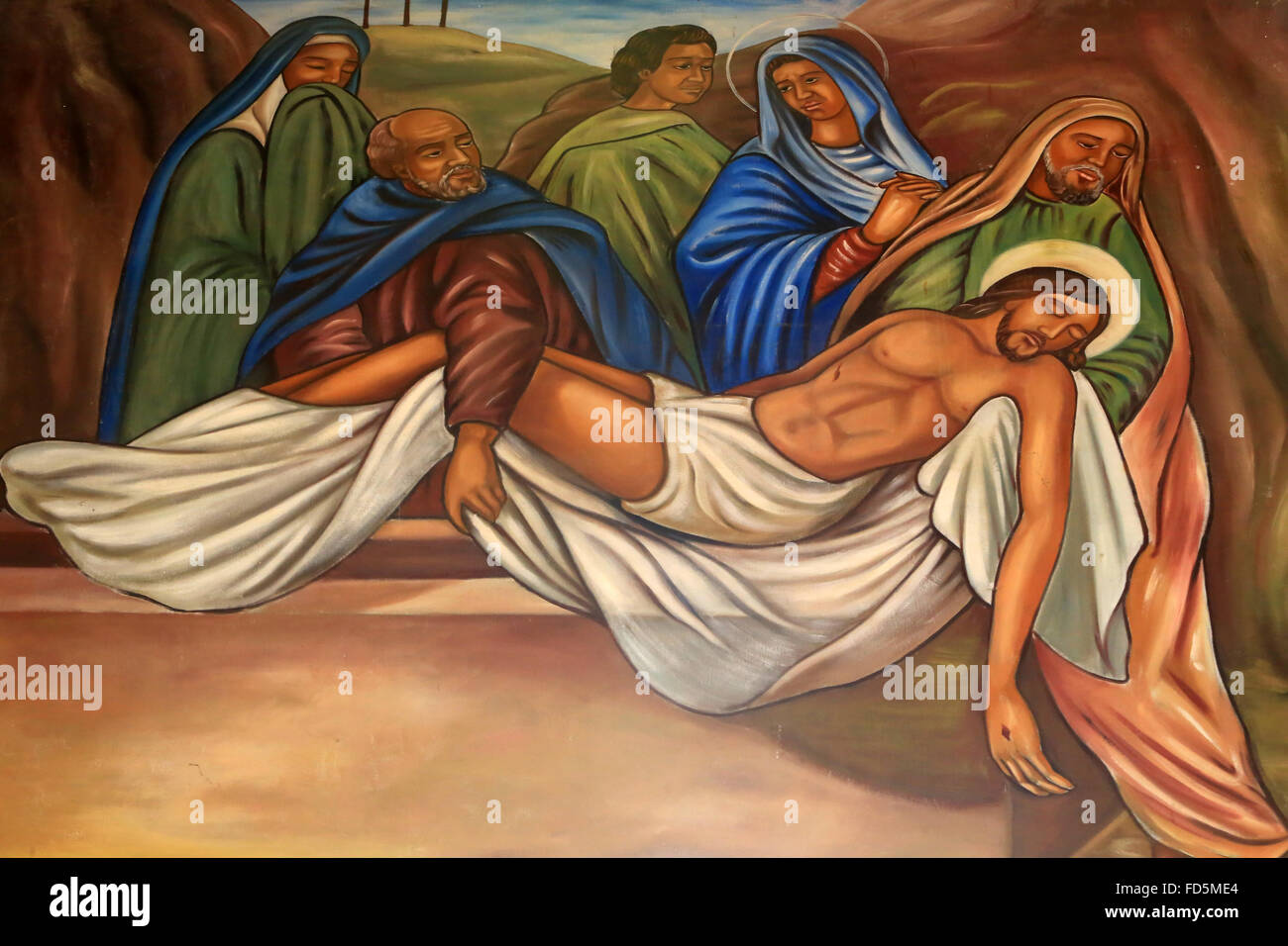 Entombment. Jesus Christ. St. Peter and Paul Cathedral. - Stock Image