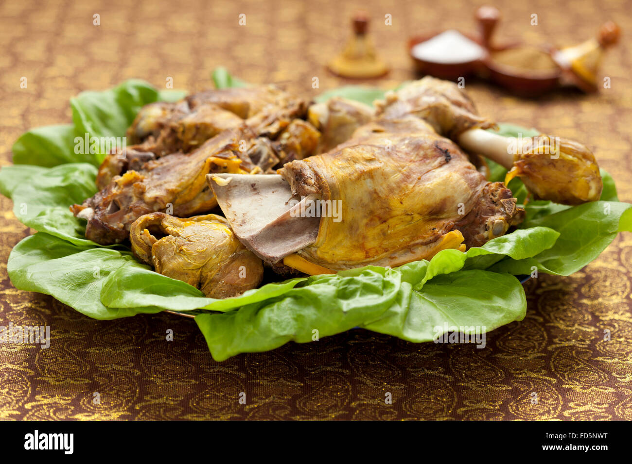 Traditional islam dish for Eid al-Adha on the table - Stock Image